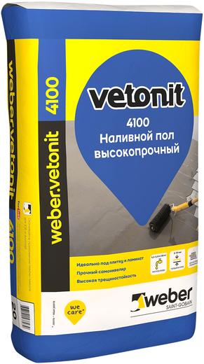 Вебер Ветонит 4100 Self Level Floor наливной пол высокопрочный (20 кг)