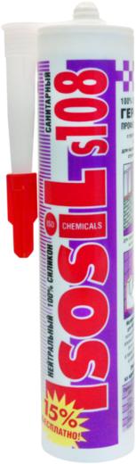 Iso Chemicals Isosil S108 Санитарный нейтральный силиконовый герметик (280 мл) белый