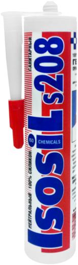 Iso Chemicals Isosil S208 Санитарный нейтральный силиконовый герметик (280 мл) бесцветный