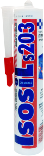 Iso Chemicals Isosil S203 Аквариумный силиконовый герметик (280 мл) бесцветный