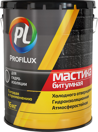 Профилюкс мастика битумная (16 кг) черная