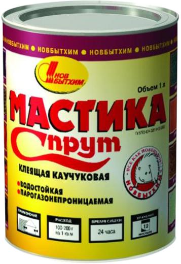 Новбытхим Спрут мастика клеящая каучуковая водостойкая парогазонепроницаемая