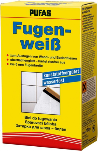 Пуфас Fugenweiss затирка для швов белая