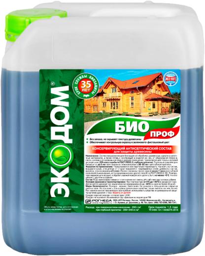 Экодом Био Проф консервирующий антисептический состав для защиты древесины (5 кг) зеленовато-фисташковый