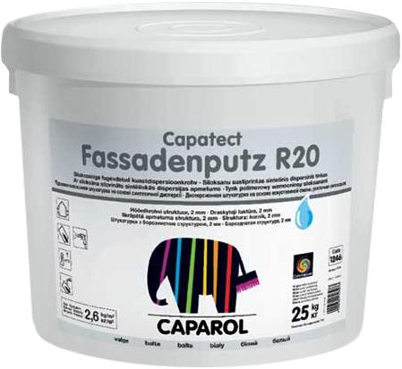 Дисперсионная структурная штукатурка Caparol Capatect Fassadenputz R20 (25 кг Германия)