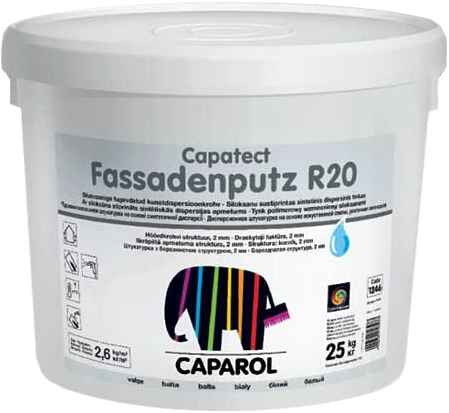 Caparol Capatect Fassadenputz R20 дисперсионная структурная штукатурка