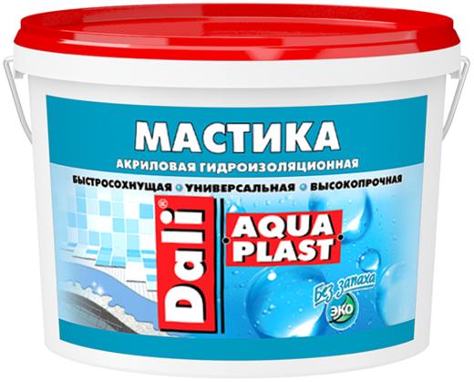 Мастика Dali Aquaplast гидроизоляционная быстросохнущая универсальная высокопрочная 2.5 л голубая