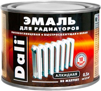 Эмаль Dali Для радиаторов алкидная быстросохнущая 500 мл белая