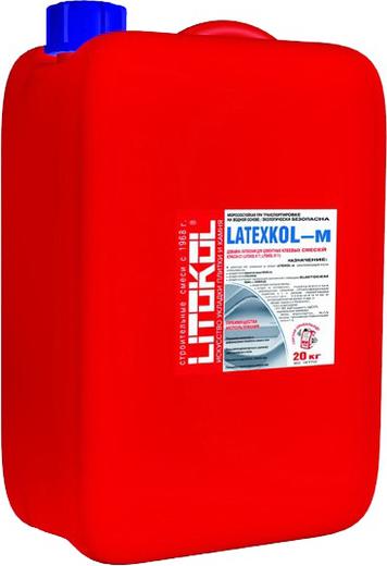 Литокол Latexkol-m добавка латексная для цементных клеевых смесей (8.5 кг)