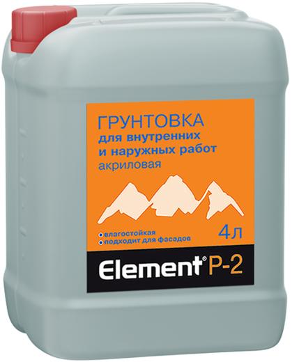 Alpa Alpa Element P-2 грунтовка акриловая влагостойкая (4 л)
