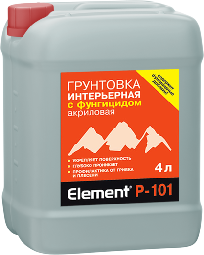 Грунтовка Alpa Element p-101 интерьерная с фунгицидом акриловая 10 л
