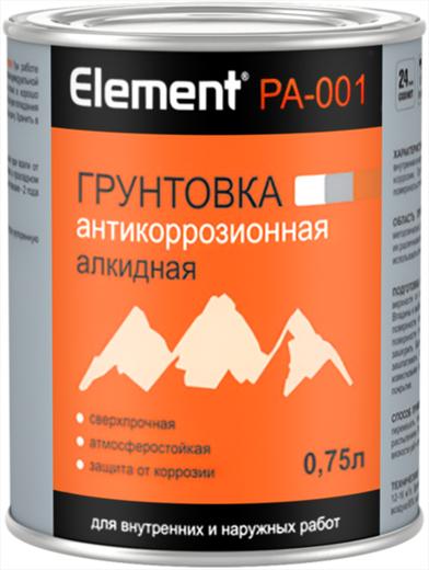 Alpa Alpa Element PA-001 грунтовка антикоррозионная алкидная сверхпрочная (750 мл) красно-коричневая