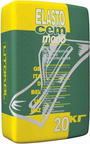 Литокол Elastocem Mono цементная эластичная гидроизоляционная смесь на цементной основе