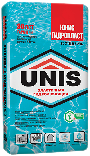 Юнис Гидропласт гидроизоляция обмазочная (20 кг)