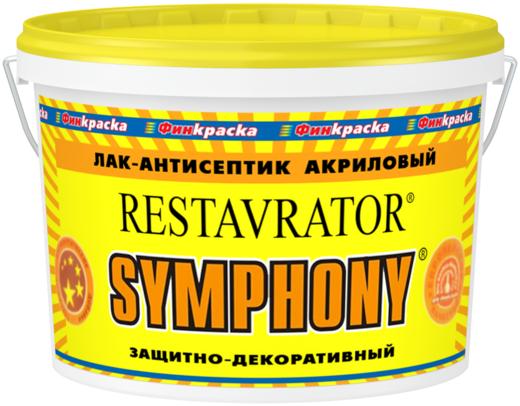 Финкраска Симфония Restavrator лак-антисептик акриловый защитно-декоративный (10 л) шелковисто-матовый