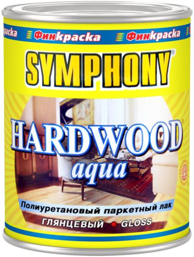 Финкраска Симфония Hardwood Aqua полиуретановый паркетный лак покрывной (1 л) шелковисто-матовый