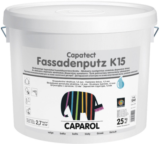 Caparol Capatect Fassadenputz K15 дисперсионная структурная штукатурка (25 кг Россия)