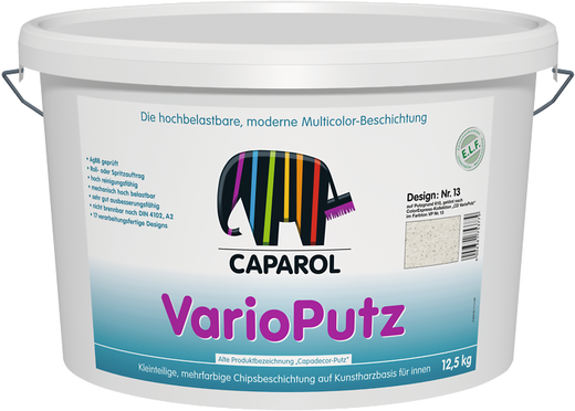 Caparol Capadecor VarioPutz многоцветное матовое высокоэкономичное покрытие с хлопьями (12.5 кг) априкот №31