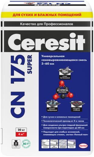 Ceresit CN 175 Plus самовыравнивающаяся смесь универсальная (25 кг)