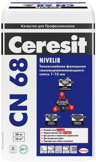 Cn 68 самовыравнивающаяся тонкослойная 25 кг