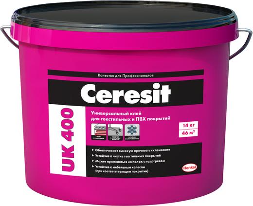Ceresit UK 400 универсальный водно-дисперсионный клей (14 кг)