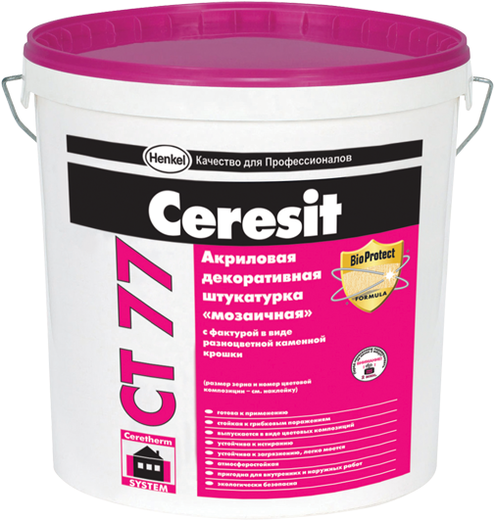 Ceresit CT 77 Мозаичная декоративная штукатурка акриловая (25 кг) Peru 1