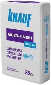 Кнауф Мульти-Финиш шпаклевка цементная фасадная (25 кг) серая