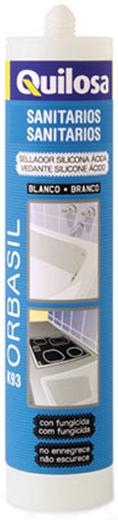 Герметик Quilosa Orbasil k93 нейтральный санитарный силиконовый 280 мл белый