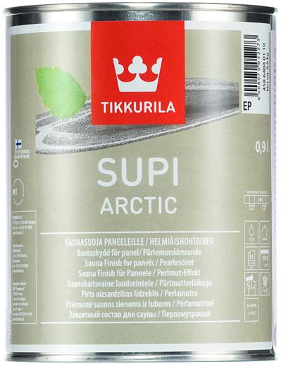 Тиккурила Супи Арктик защитный состав для сауны и бань перламутровый