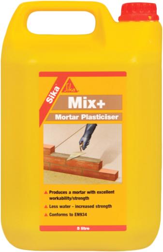 Sika Mix Plus модификатор цементно-песчаных растворов (5 л)