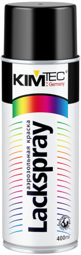 Kim Tec Lackspray аэрозольная краска спрей (400 мл) черный матовый
