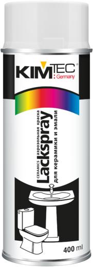 Kim Tec Lackspray Ceramics аэрозольная краска для керамики и эмали спрей (400 мл) белый