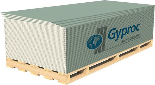 Гипрок гипсокартонный влагоогнестойкий лист (ГКЛВО 1.2*2.5 м/12.5 мм)