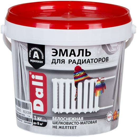 Эмаль для радиаторов акриловая Dali 1 кг белоснежная