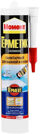 Герметик Момент Силикон санитарный для ванной и кухни силиконовый 280 мл белый