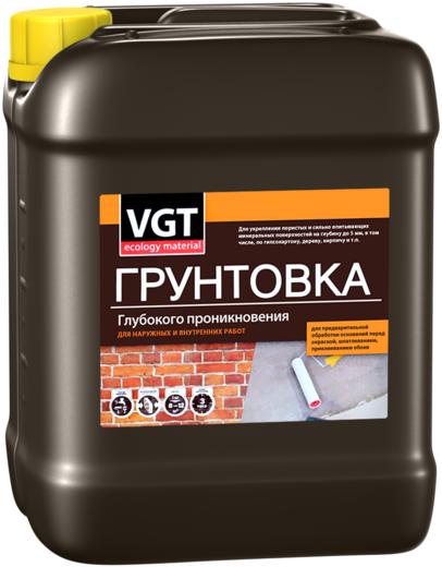 ВГТ ВД-АК-0301 грунтовка глубокого проникновения для наружных и внутренних работ