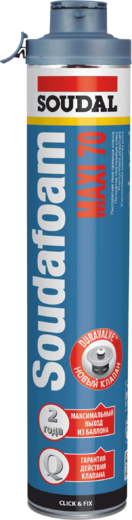 Soudal Soudafoam Maxi 70 Click & Fix пистолетная пена премиум класса (870 мл) пистолетная зимняя