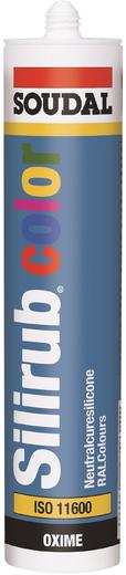 Soudal Silirub Color силиконовый герметик (310 мл) антрацитово-серый
