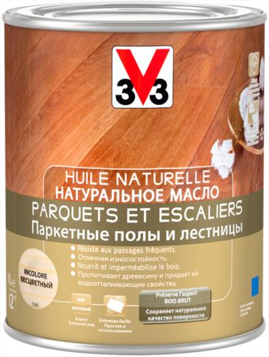 V33 Huile Naturelle Parquets et Escaliers натуральное масло (2.5 л) бесцветное