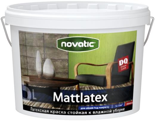 Feidal Novatic Mattlatex латексная акриловая краска стойкая к влажной уборке (5 л) белая