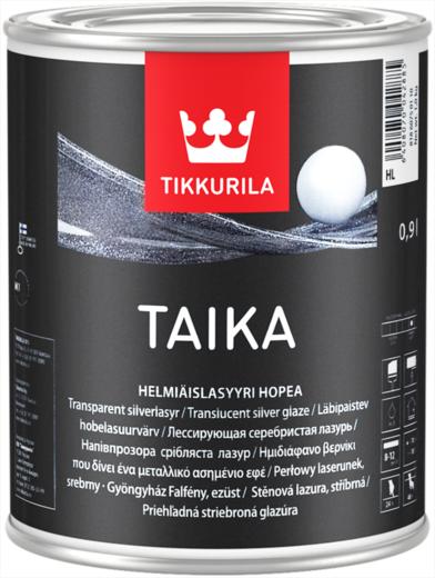 Тиккурила Тайка одноцветная лессирующая серебристая лазурь перламутровая