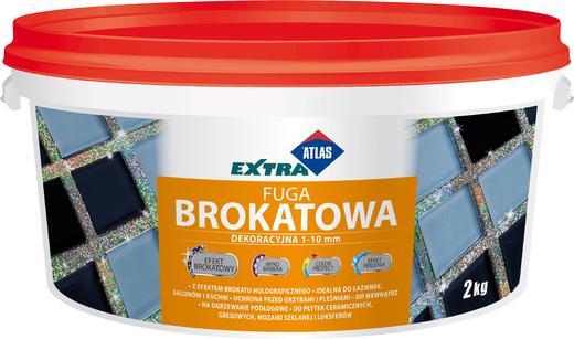 Атлас Extra Fuga Brokatowa однокомпонентная смесь для затирки швов с блестками (2 кг) серая