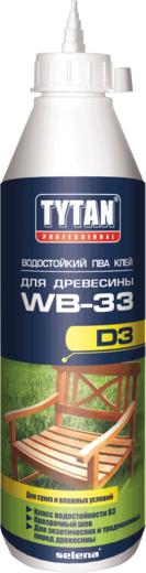Титан Professional ПВА WB-33 D3 водостойкий клей для древесины (750 г)