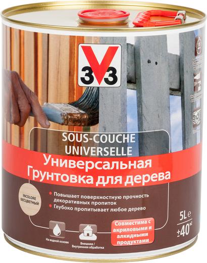 V33 Sous-Couche Universelle универсальная грунтовка для дерева (5 л)