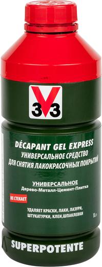 V33 Decapant Gel Express универсальное средство для снятия лакокрасочных покрытий (1 л)