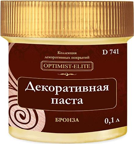 Оптимист Элит D 741 декоративная паста (100 мл) бронза