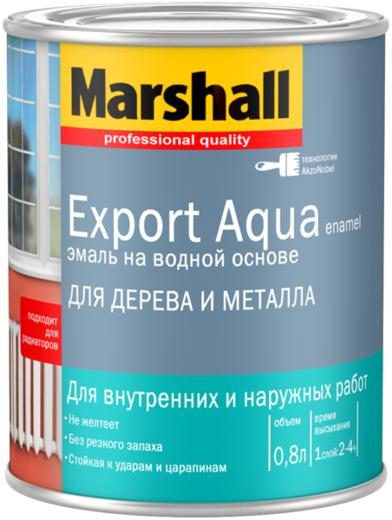 Эмаль Marshall Export aqua enamel по дереву и металлу 2.5 л белая глубокоматовая