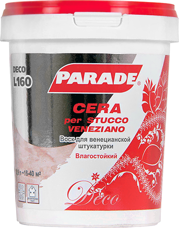 Parade L160 Cera per Stucco Veneziano воск для венецианской штукатурки (900 мл)