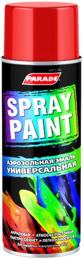 Parade Spray Paint аэрозольная эмаль универсальная (400 мл) черная глянцевая