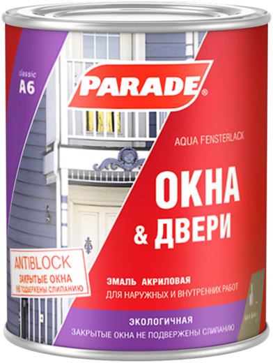 Parade A6 Окна & Двери эмаль акриловая